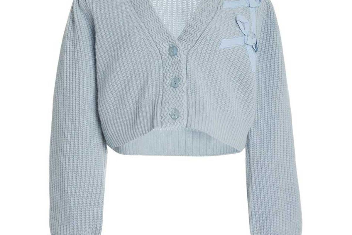 loveshackfancy avignon cropped cashmere cardigan sweater