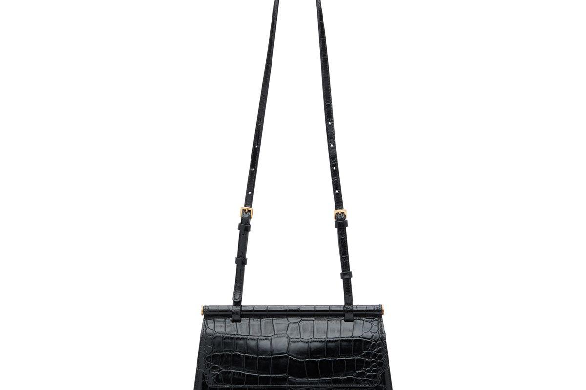 marge sherwood croc medium acco shoulder bag