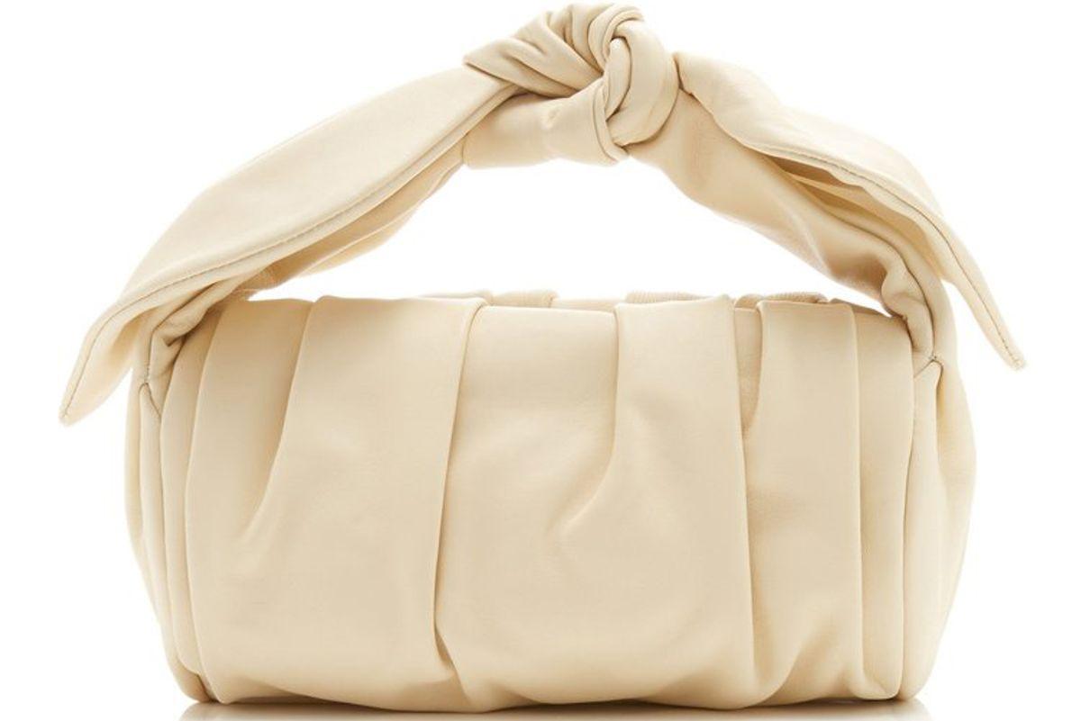 rejina pyo nane gathered knotted leather top handle bag