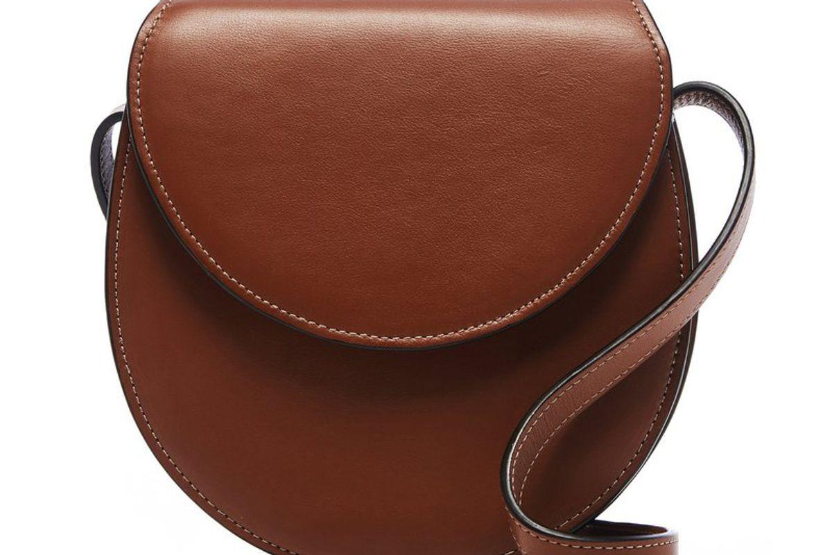 hunting season nappa leather saddle crossbody bag