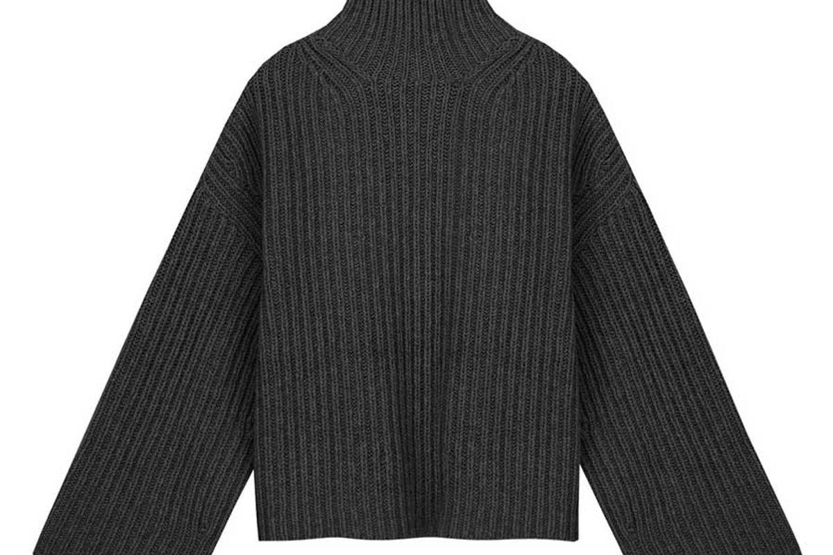 nanushka raw wool blend turtleneck sweater