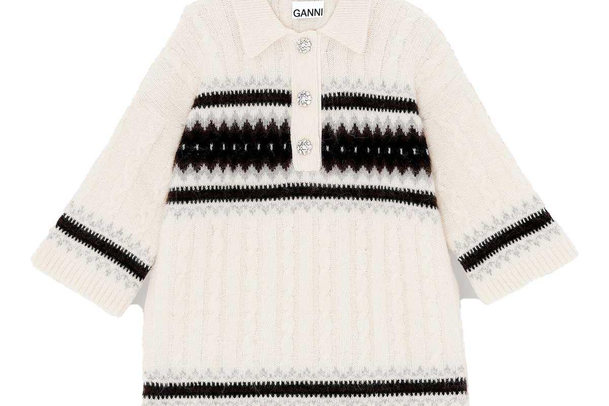 ganni alpaca knit oversized t shirt