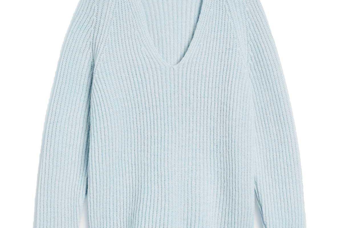 closed royal baby alpaca mix v sweater