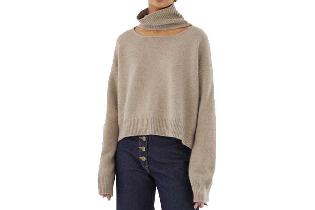 rejina pyo peyton sweater regenerated cashmere beige