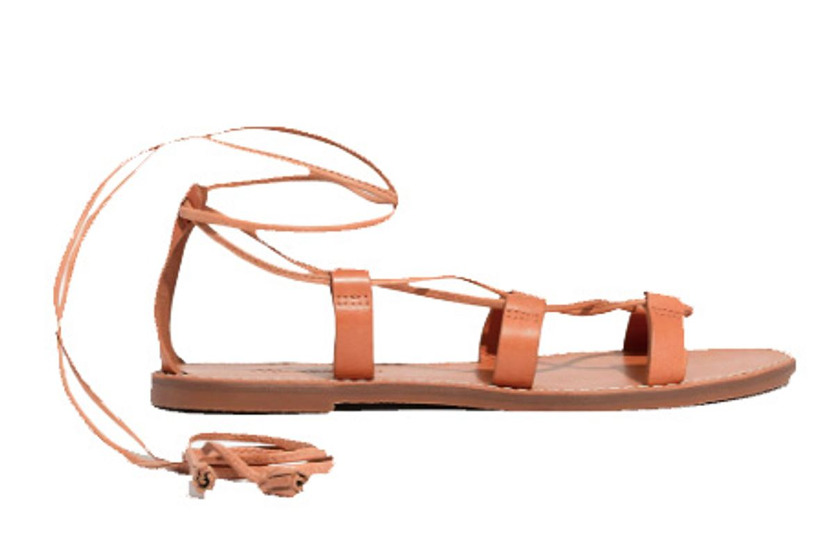 madewell the boardwalk lace up sandal