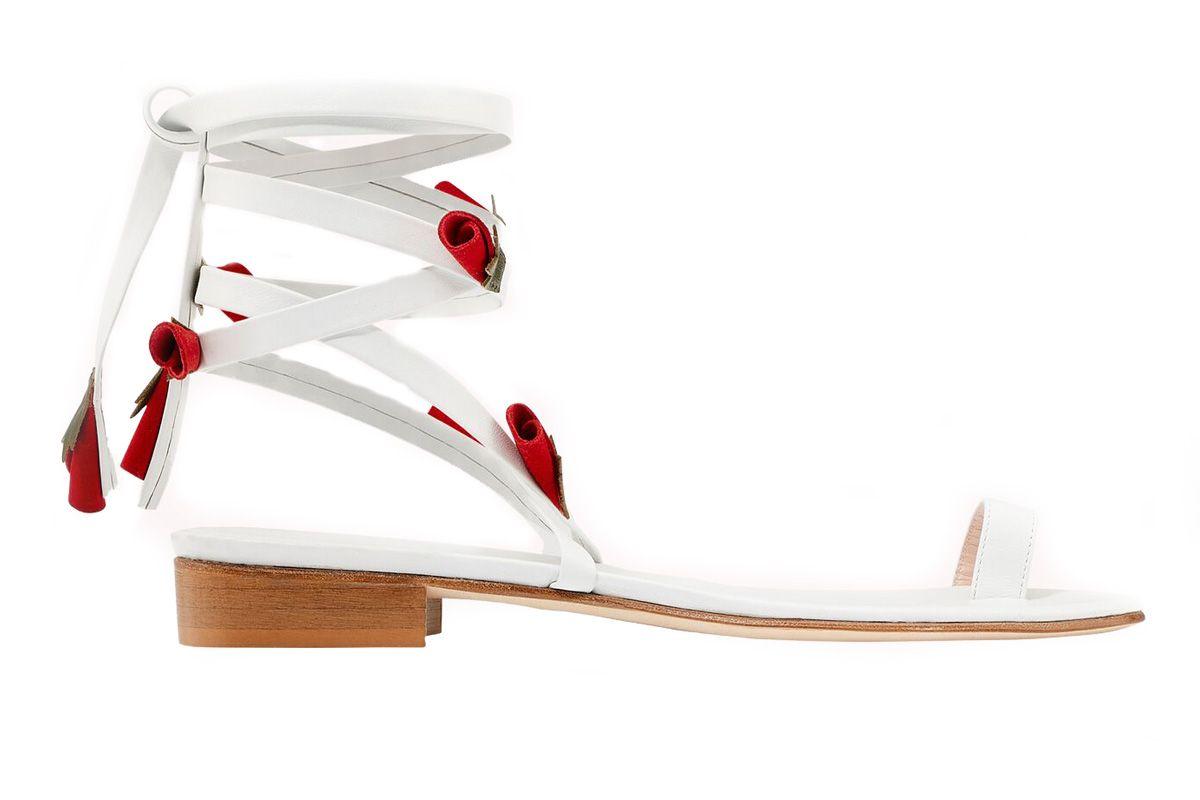 mr by man repeller rose sandals