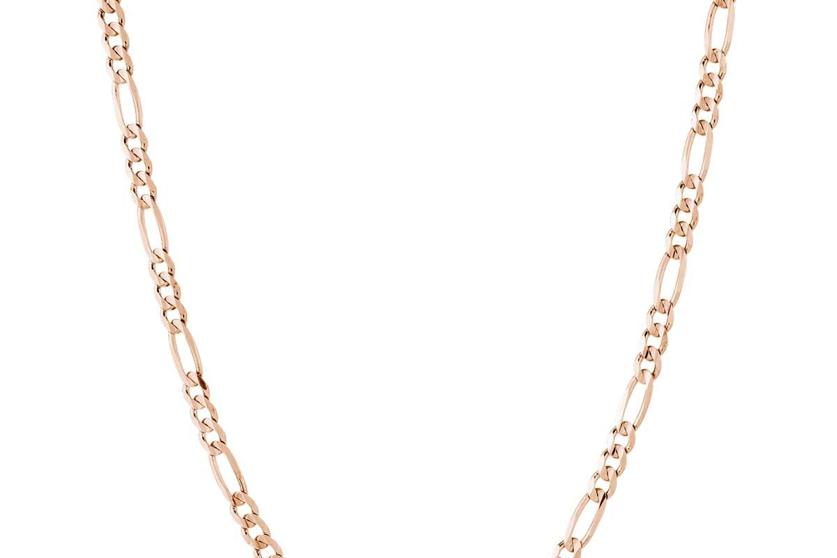 aurate large gold figaro chain necklace