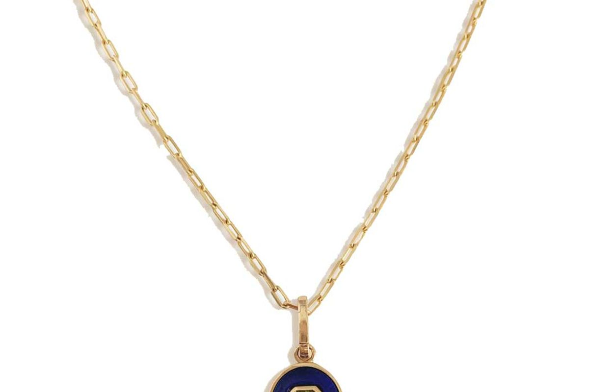 kinn studio amalfi oval pendant with chain