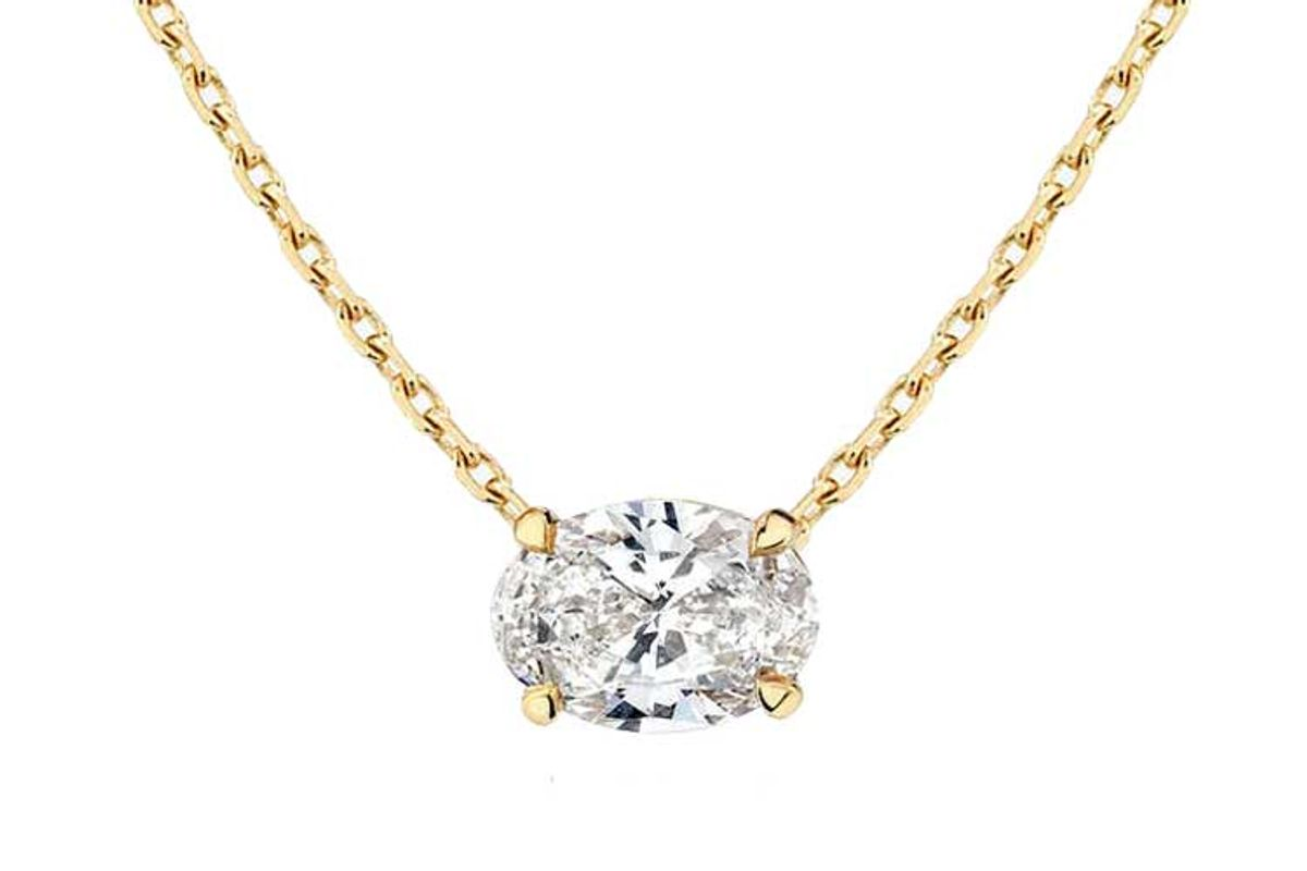 vrai solitaire diamond necklace