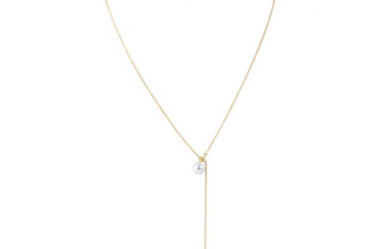 limnia sunni lariat necklace with pearl
