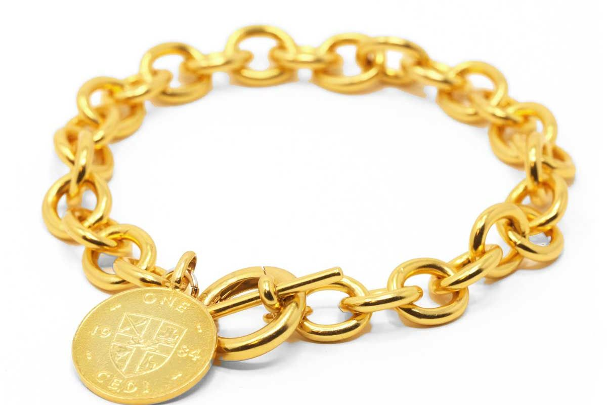 omi woods the toggle iv bracelet with coin charm