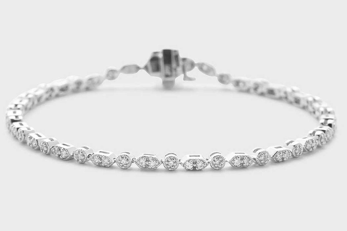 the clear cut antique style diamond bracelet