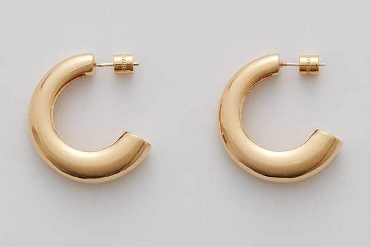 cuyana crescent hoop earrings