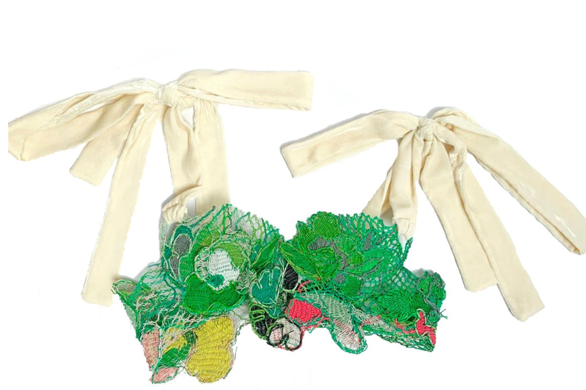 sipa green lace bra