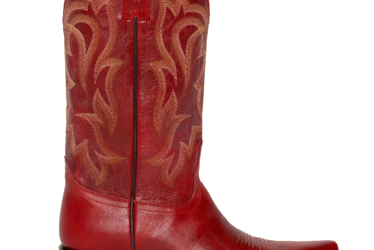 shyanne 12 inch leather snip toe western boots