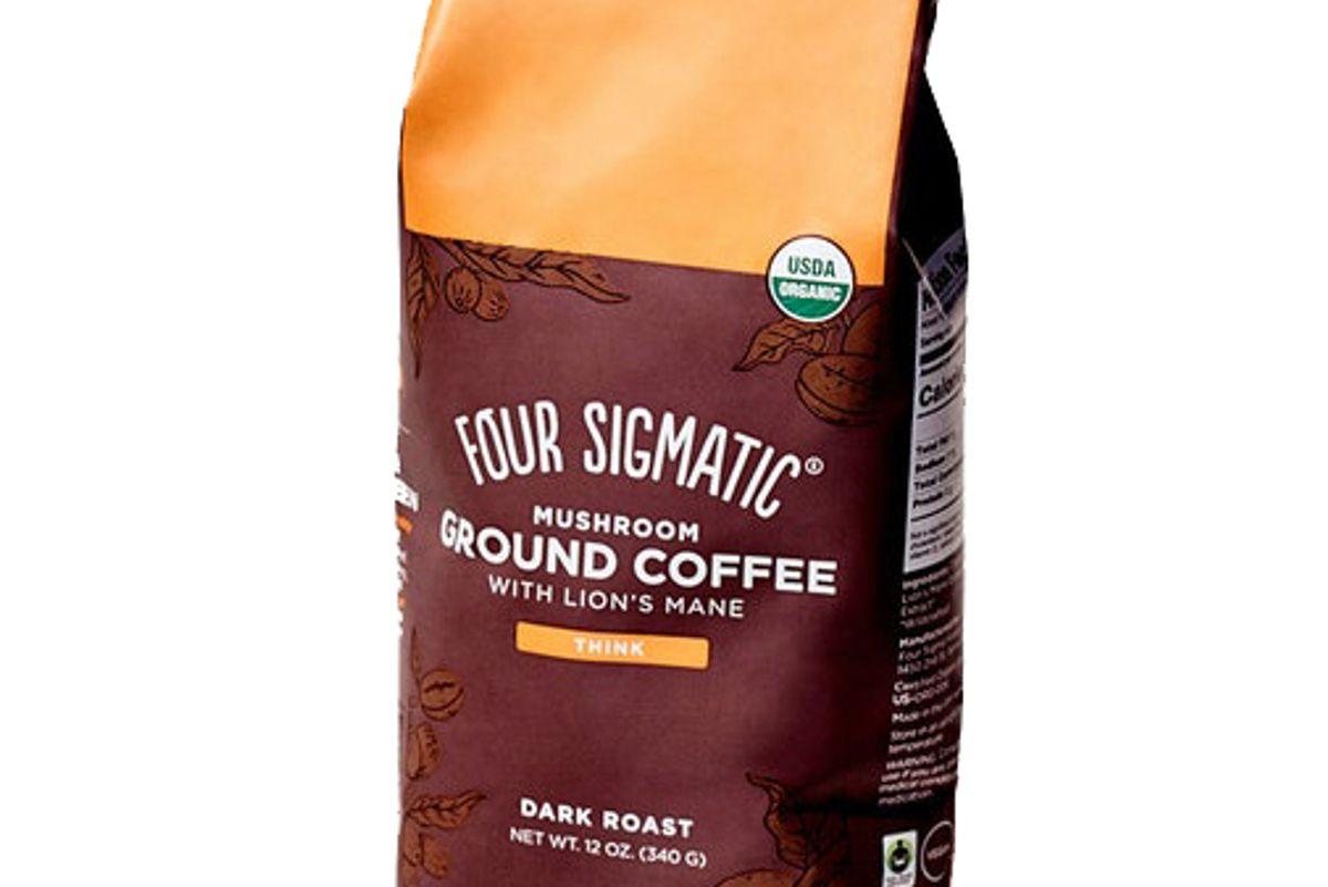 four sigmatic ground mushroom coffee with lions mane