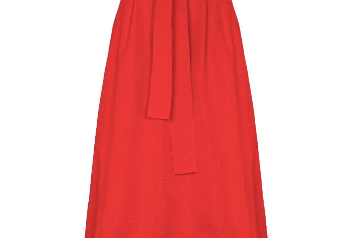 staud snoop belted waist midi skirt
