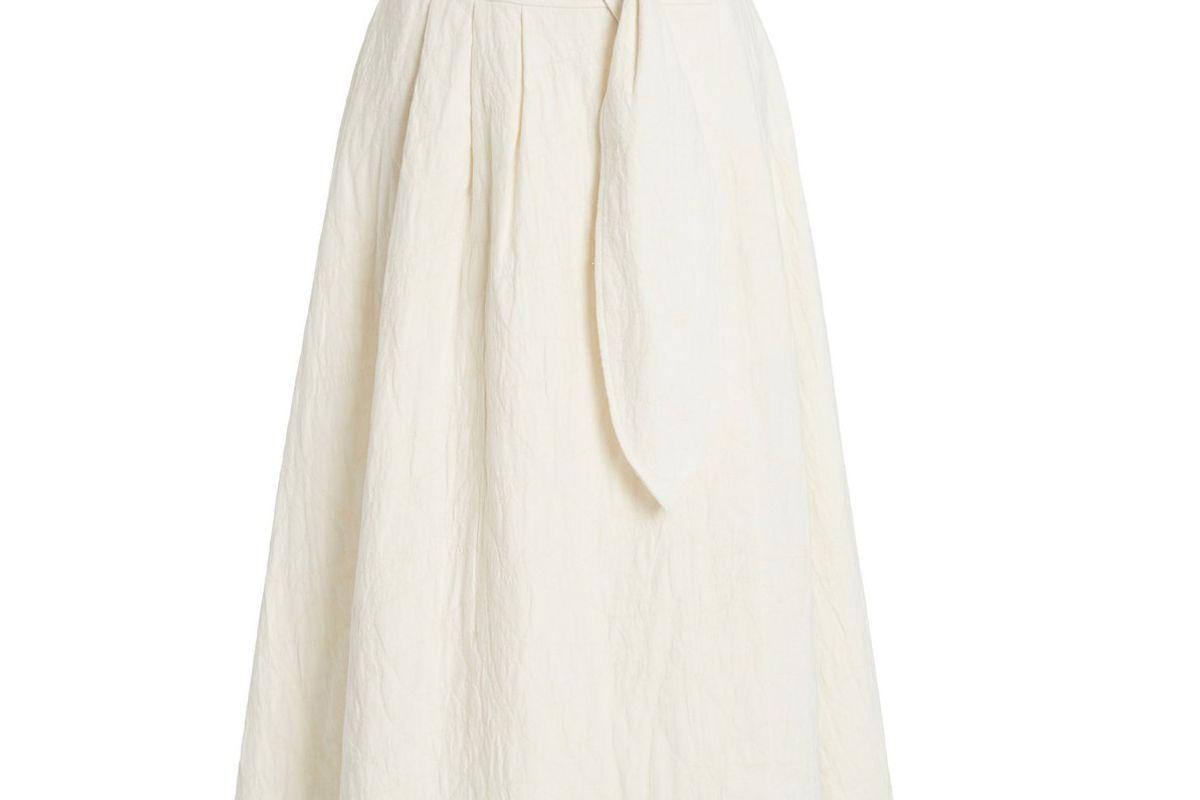 mara hoffman esperanza organic cotton linen midi skirt