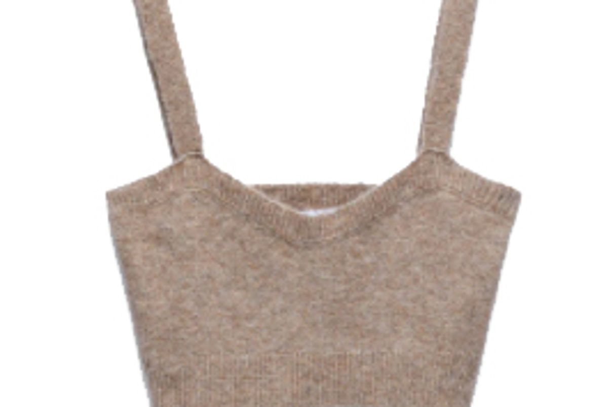 zara cropped knit top