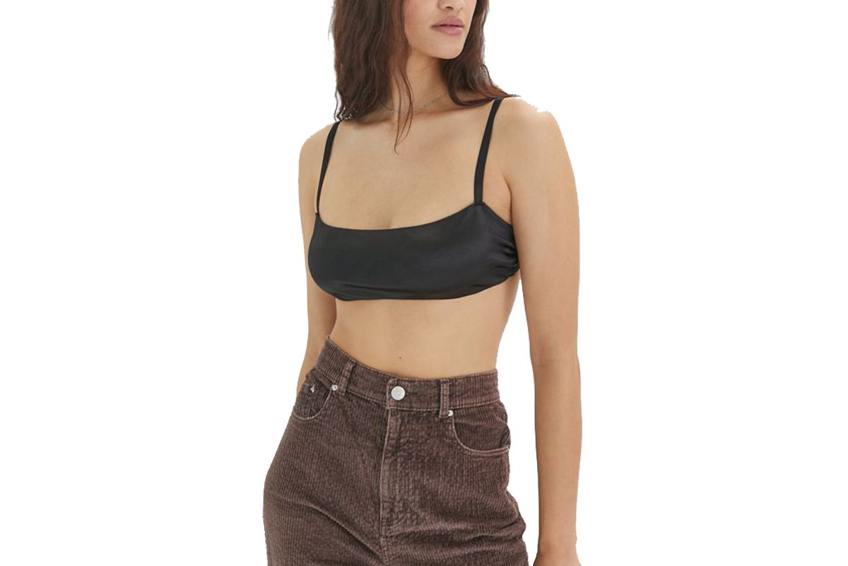 out from under ruched straight neck bralette