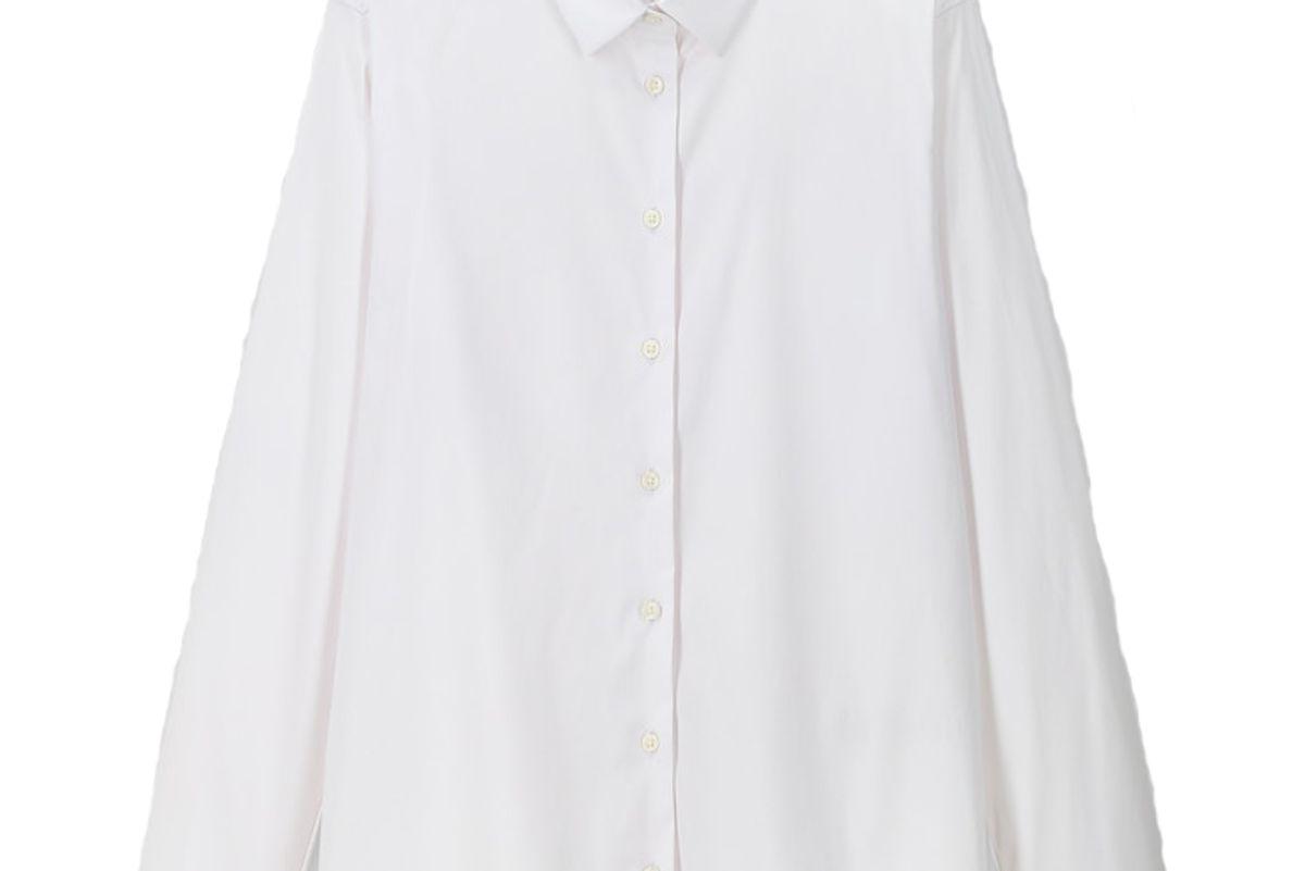 uniqlo supima cotton stretch long sleeve shirt