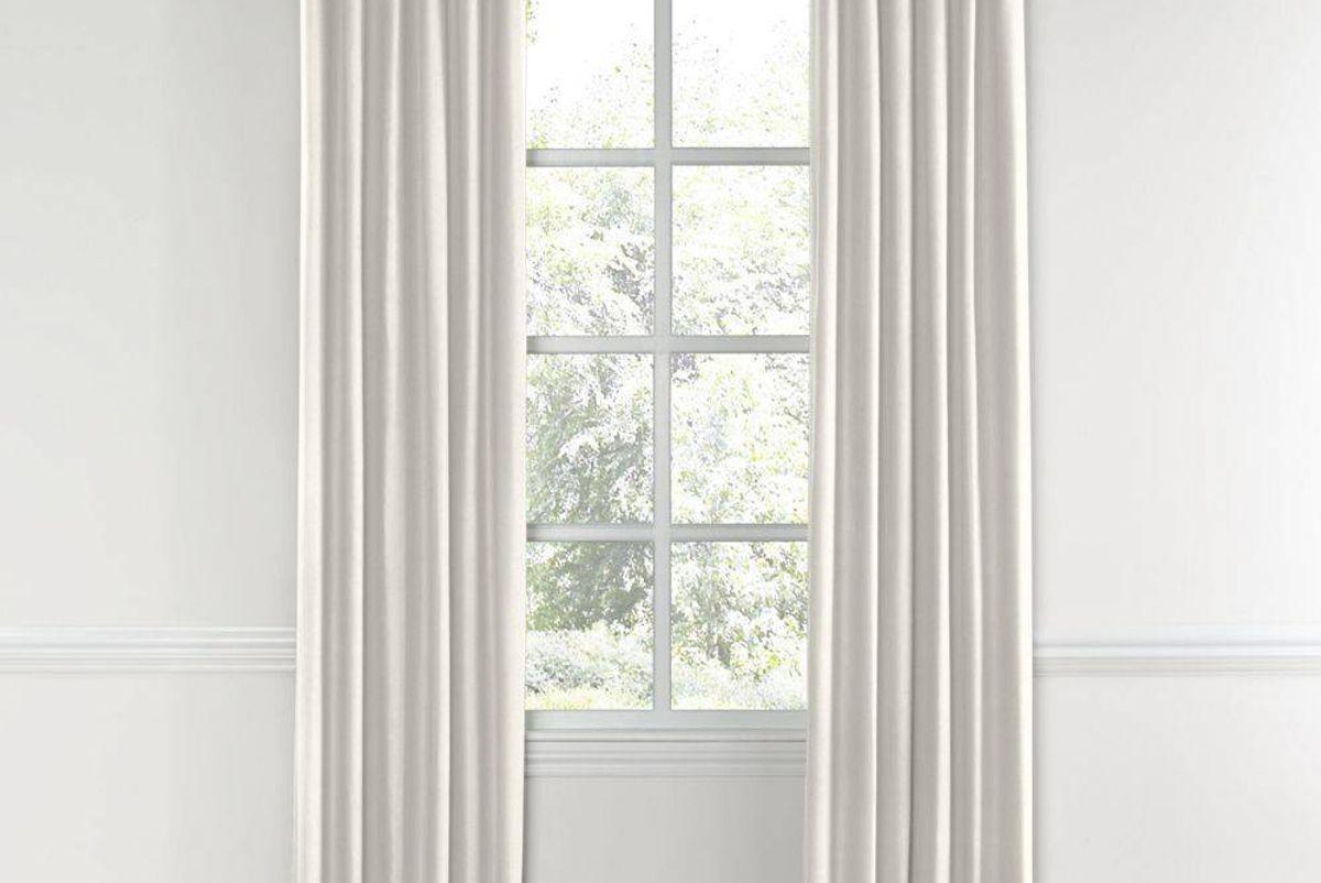 Ivory Lightweight Linen Custom Drapery