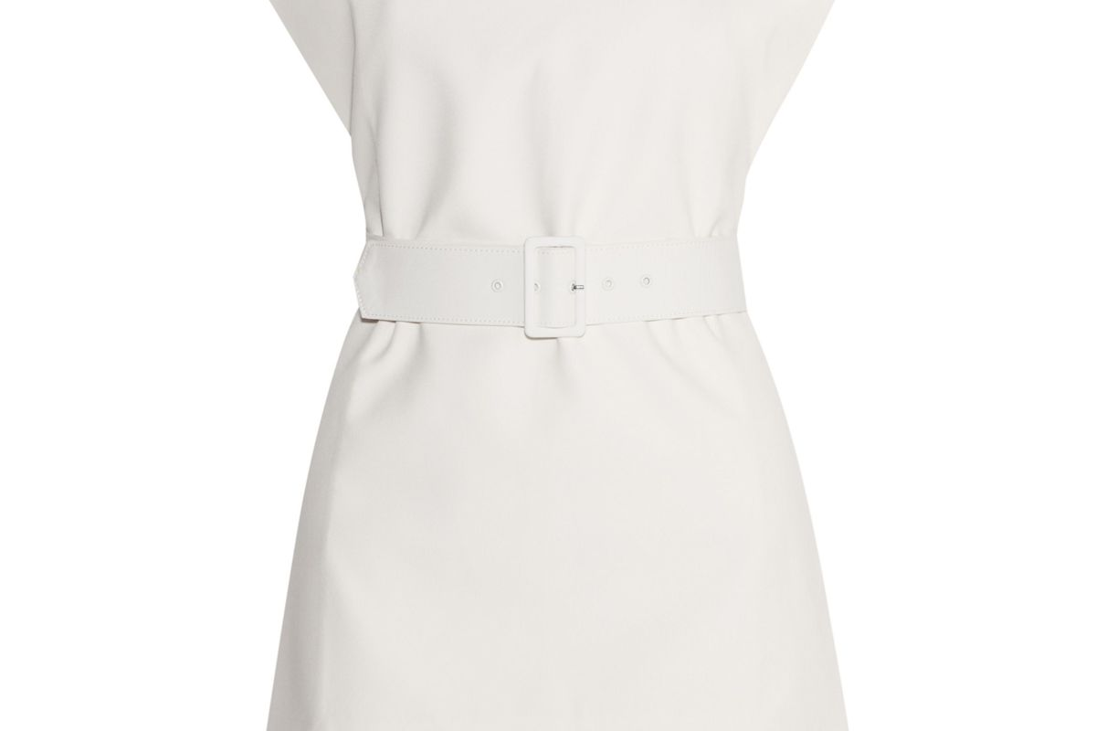 Ammie Strapless Belted Crepe Top