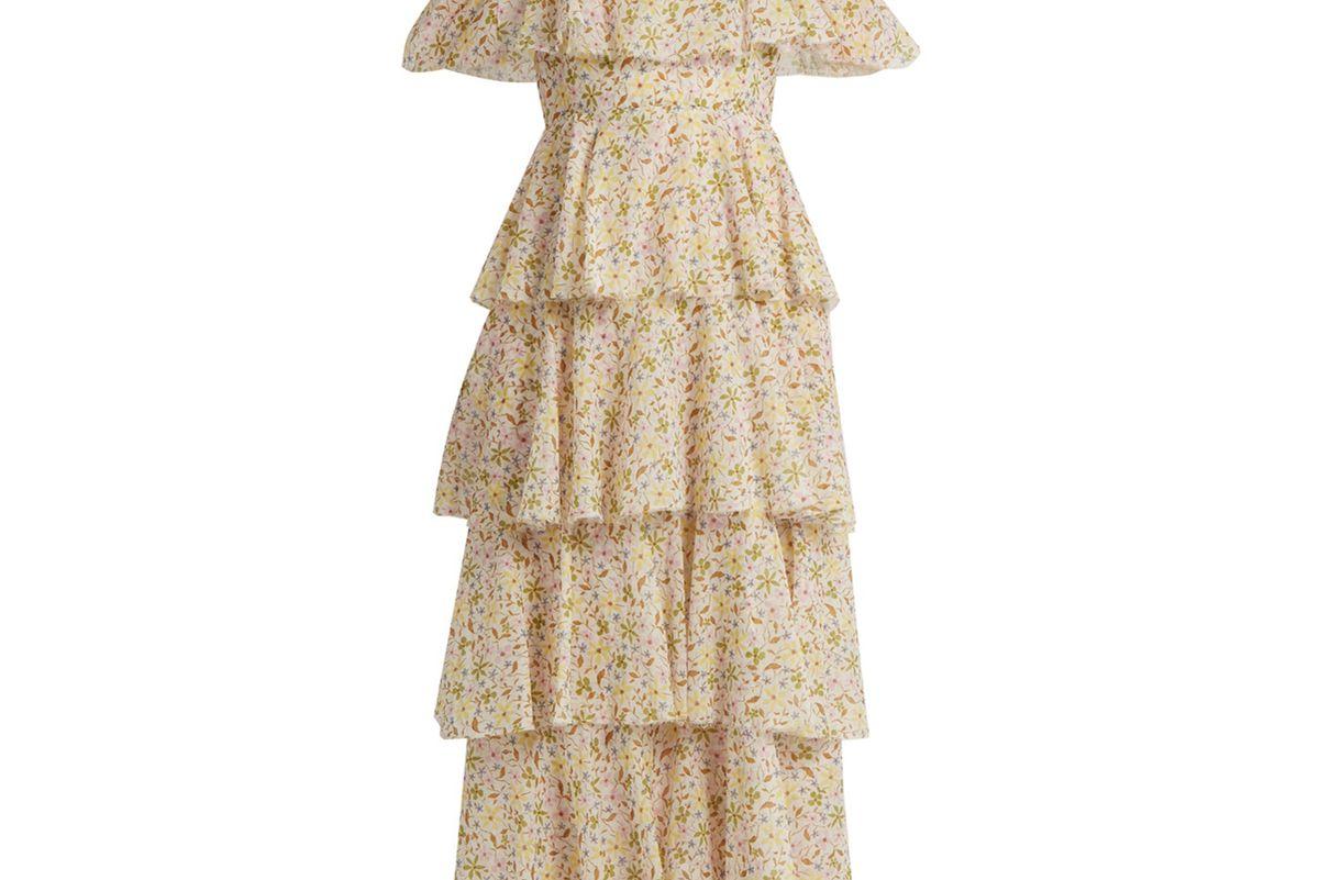 Floral-Print Cotton-Voile Dress
