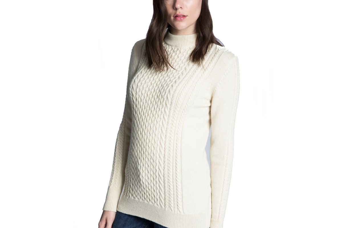 Marley Cable Mock Neck