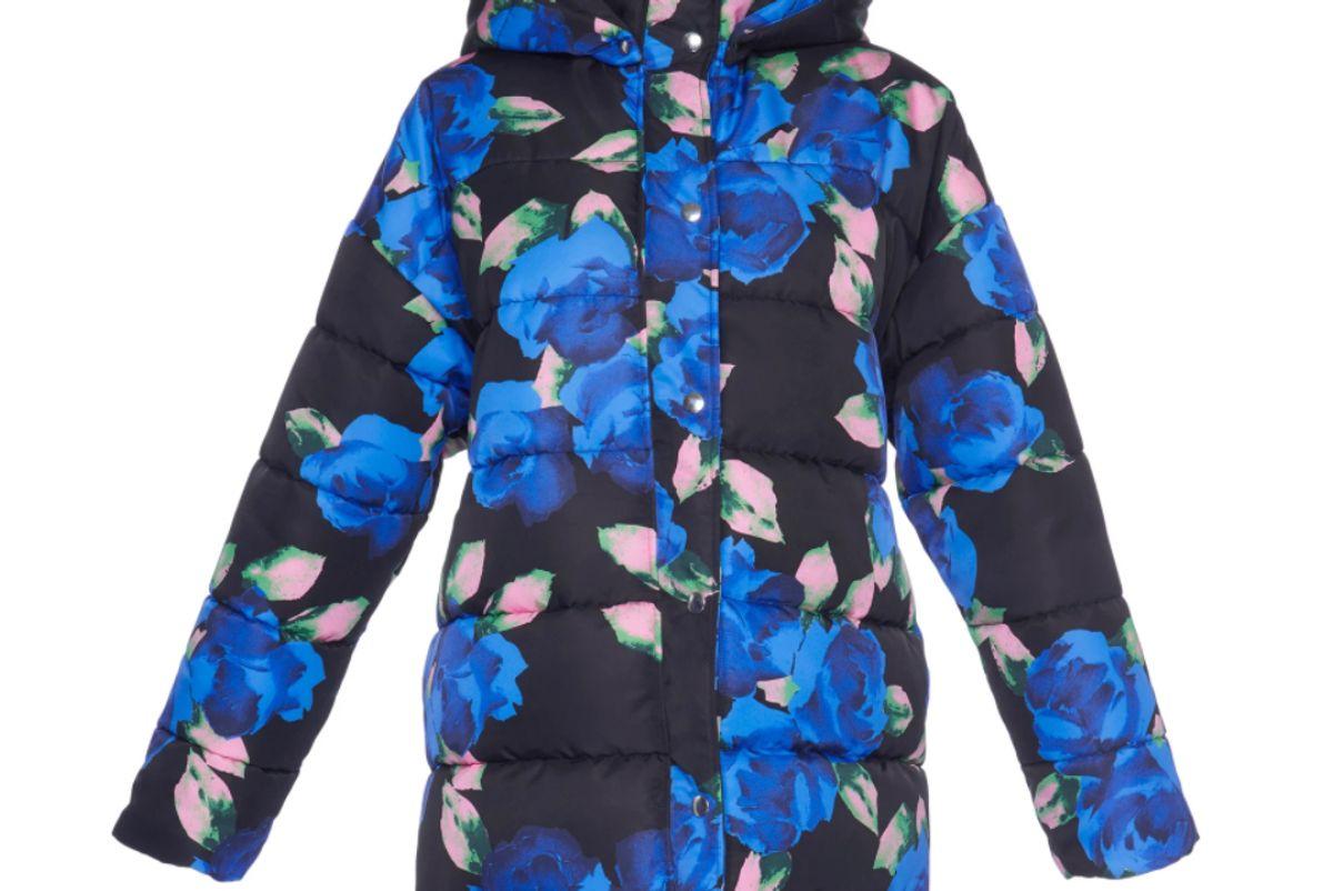 msgm floral floral puffer coat