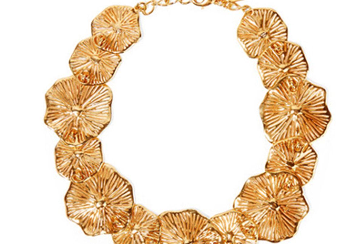 oscar de la renta gold plated necklace