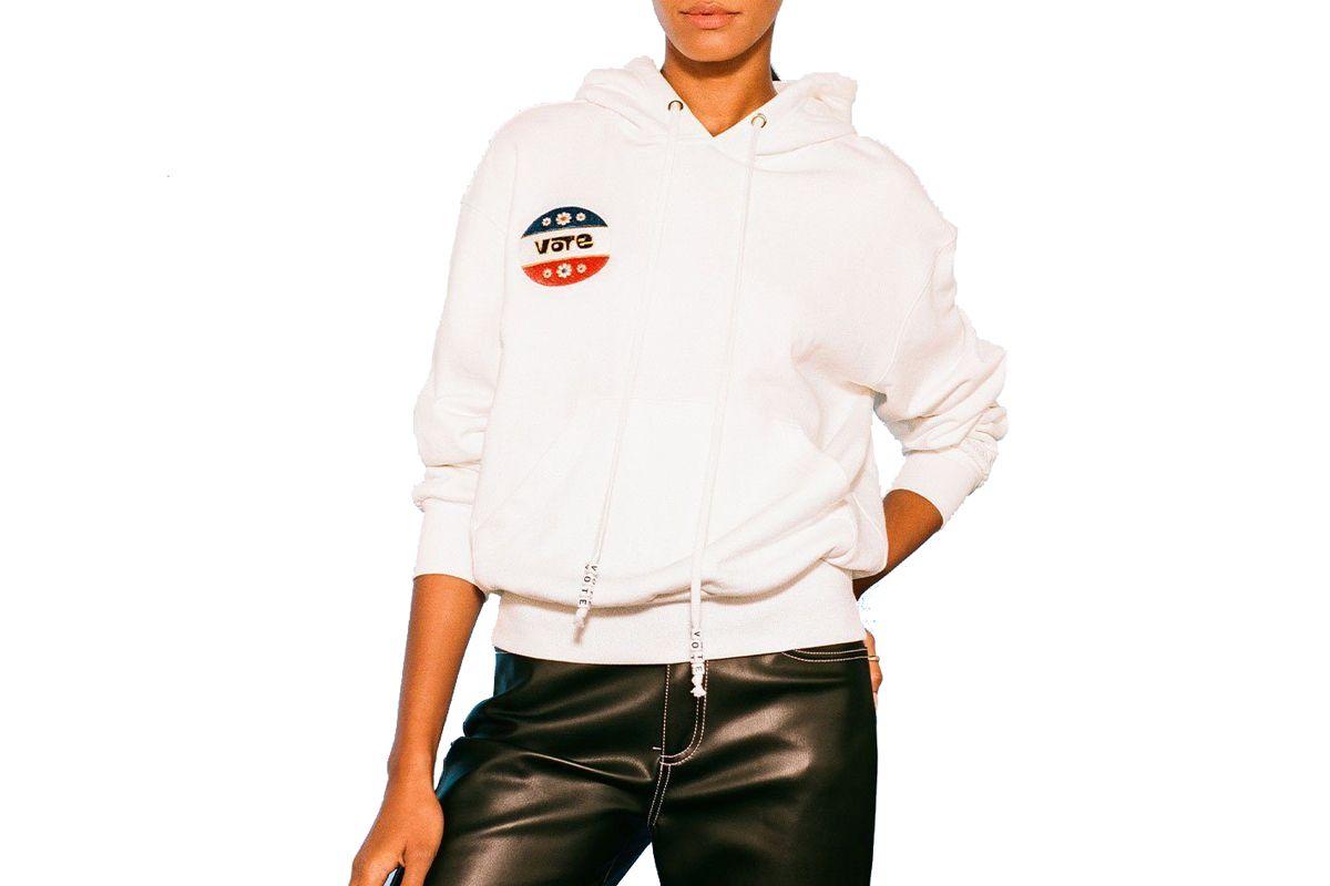 staud vote hooded sweatshirt