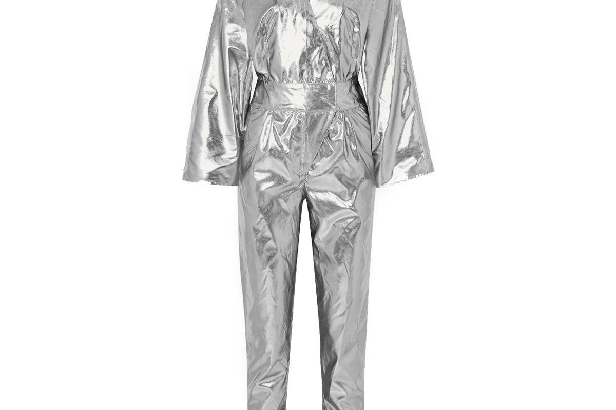 stand studio and pernille teisbaek amiya metallic faux leather jumpsuit