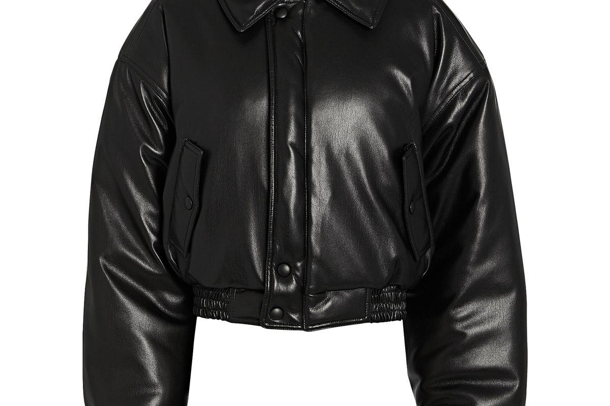nanushka bomi vegan leather jacket