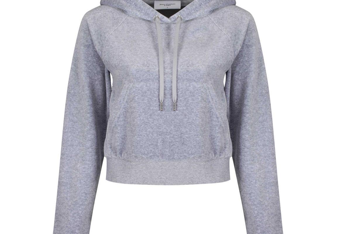 juicy couture velour diamante hoodie