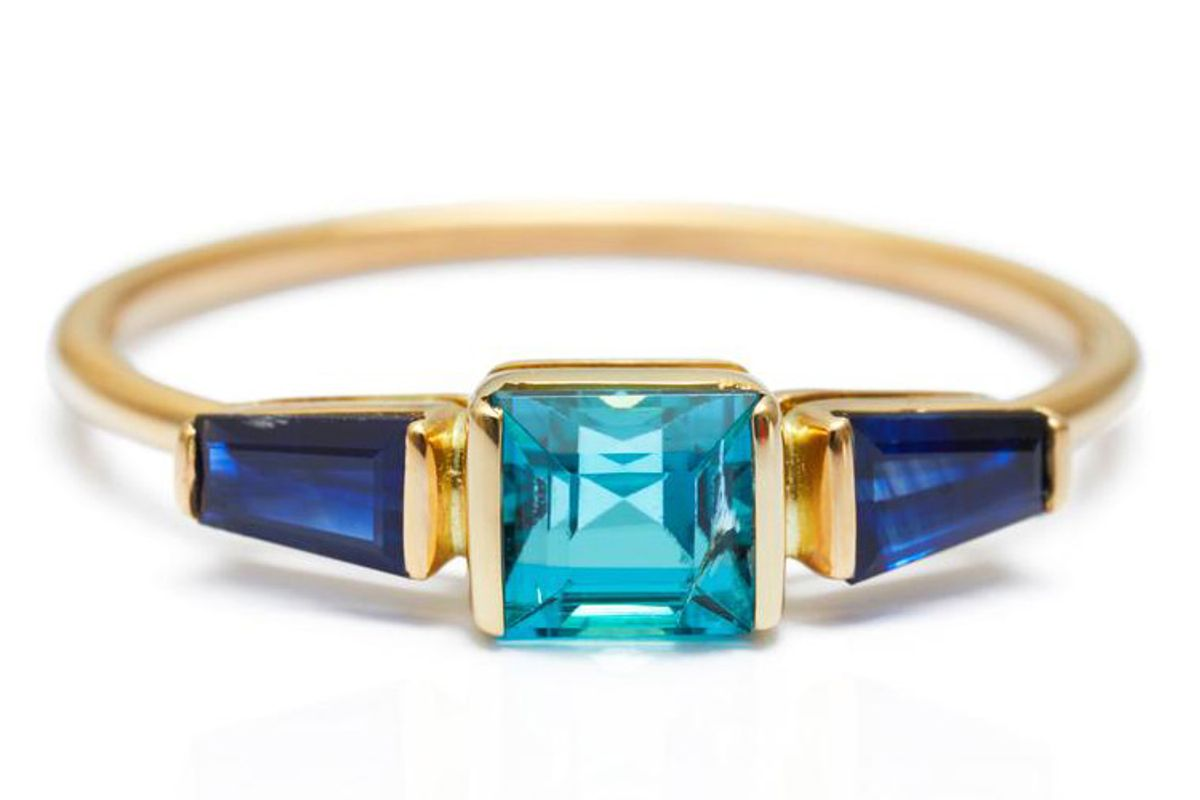 yi collection indicolite tourmaline and sapphire triplet ring