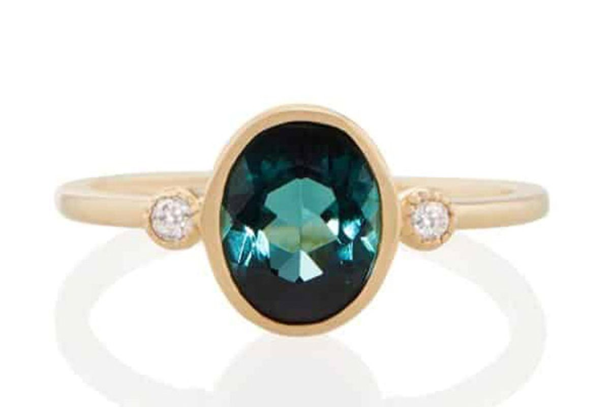 vale kepler ring with green tourmaline
