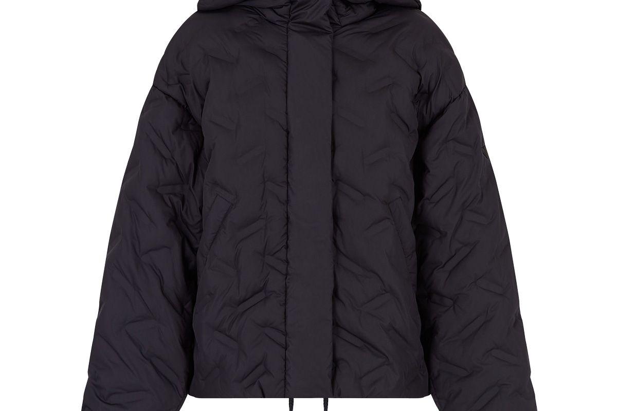 emporio armani taffeta jacket with chevron quilting