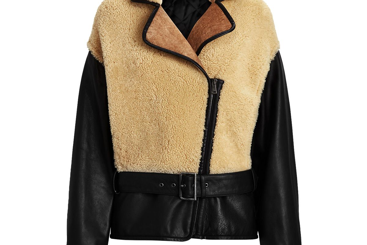 ralph lauren collection richie shearling leather coat