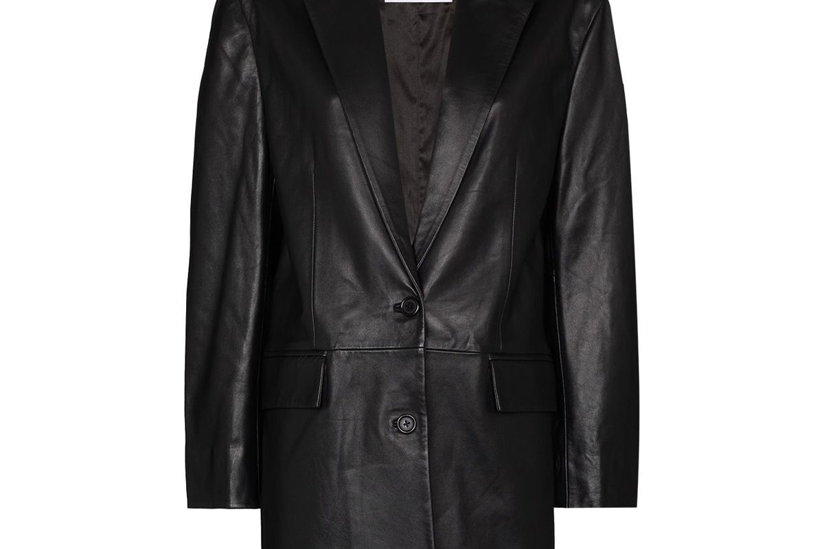 stand studio juniper leather jacket