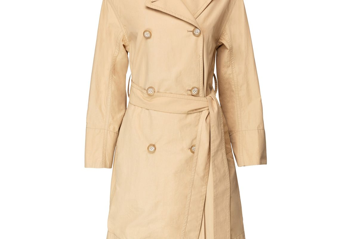 vince drapey tech faille trench