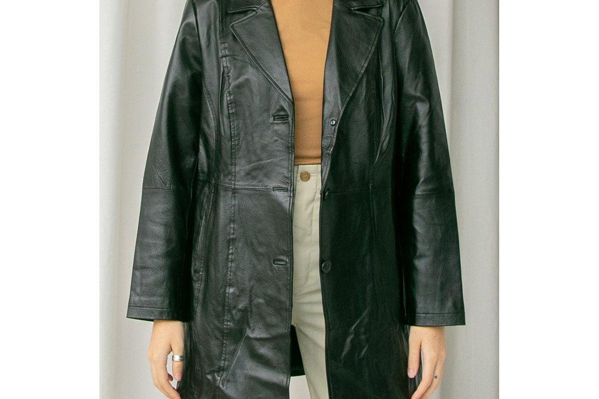 i am that black leather blazer jacket
