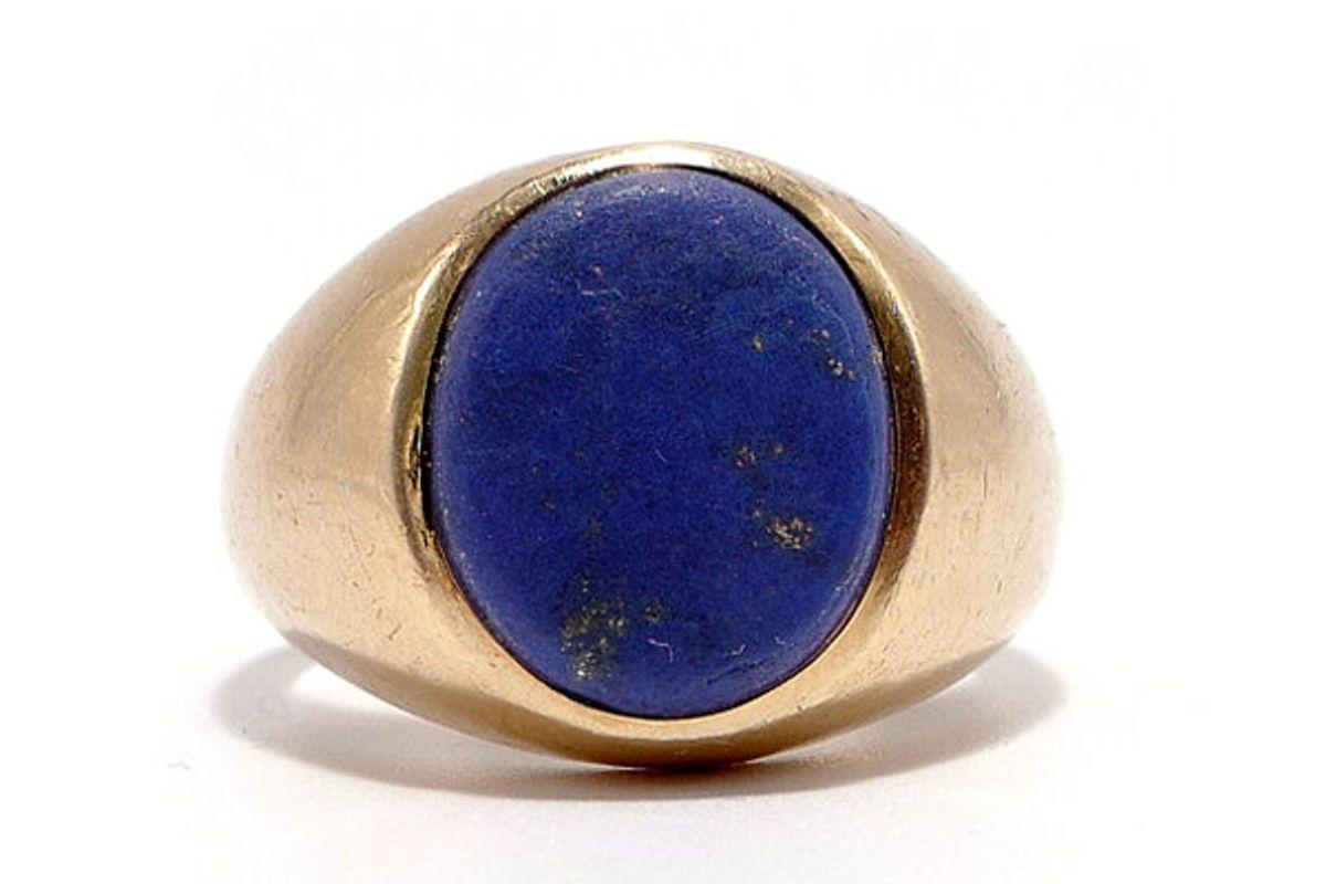 ashley zhang jewelry lapis signet ring