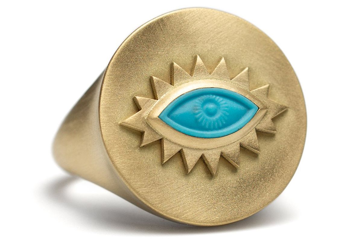 reinstein ross turquoise greek eye ring