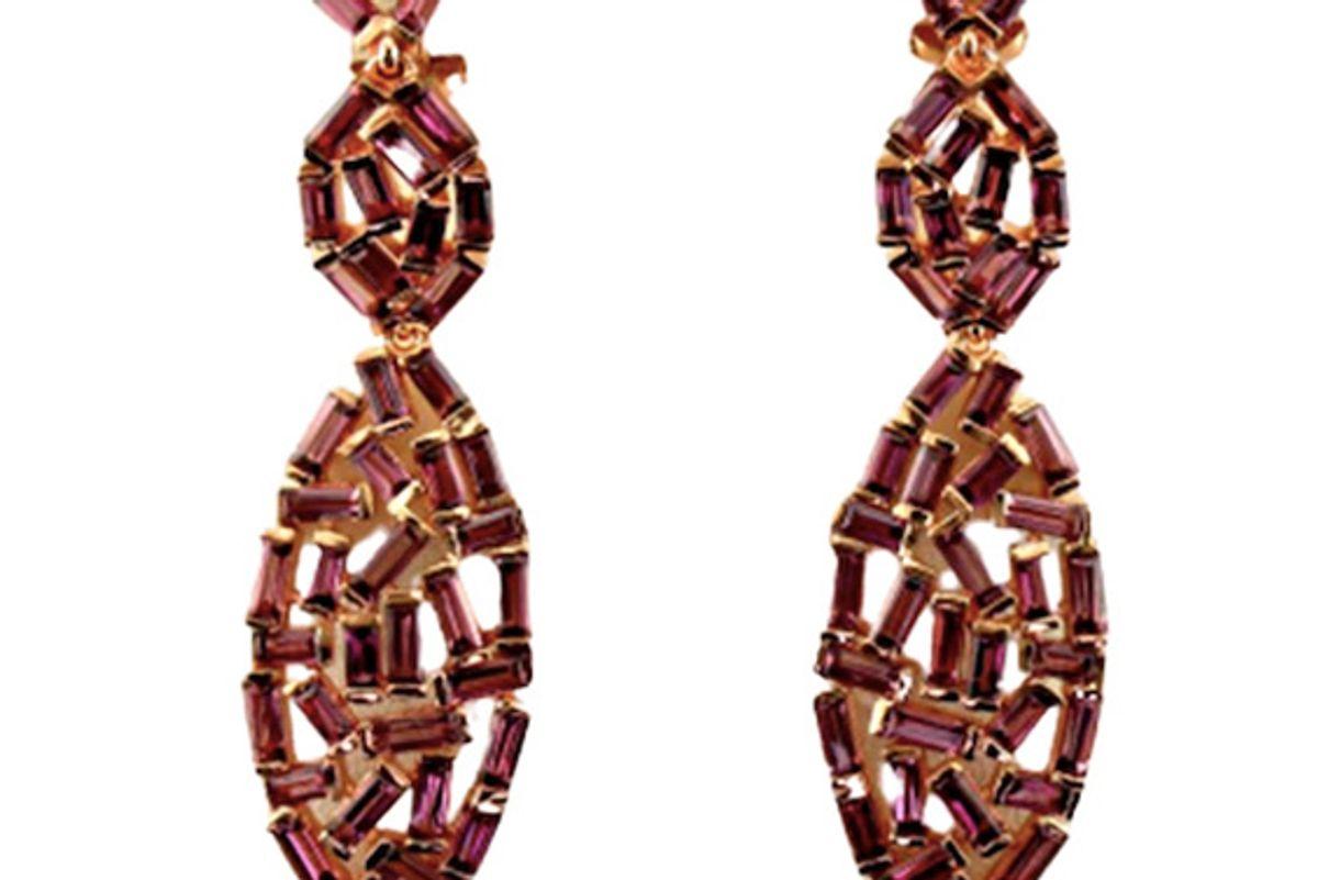 kay le vian nude rhodolite earrings 14k strawberry gold