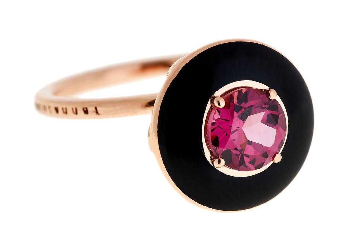 selim mouzannar mina rhodolite ring rose gold