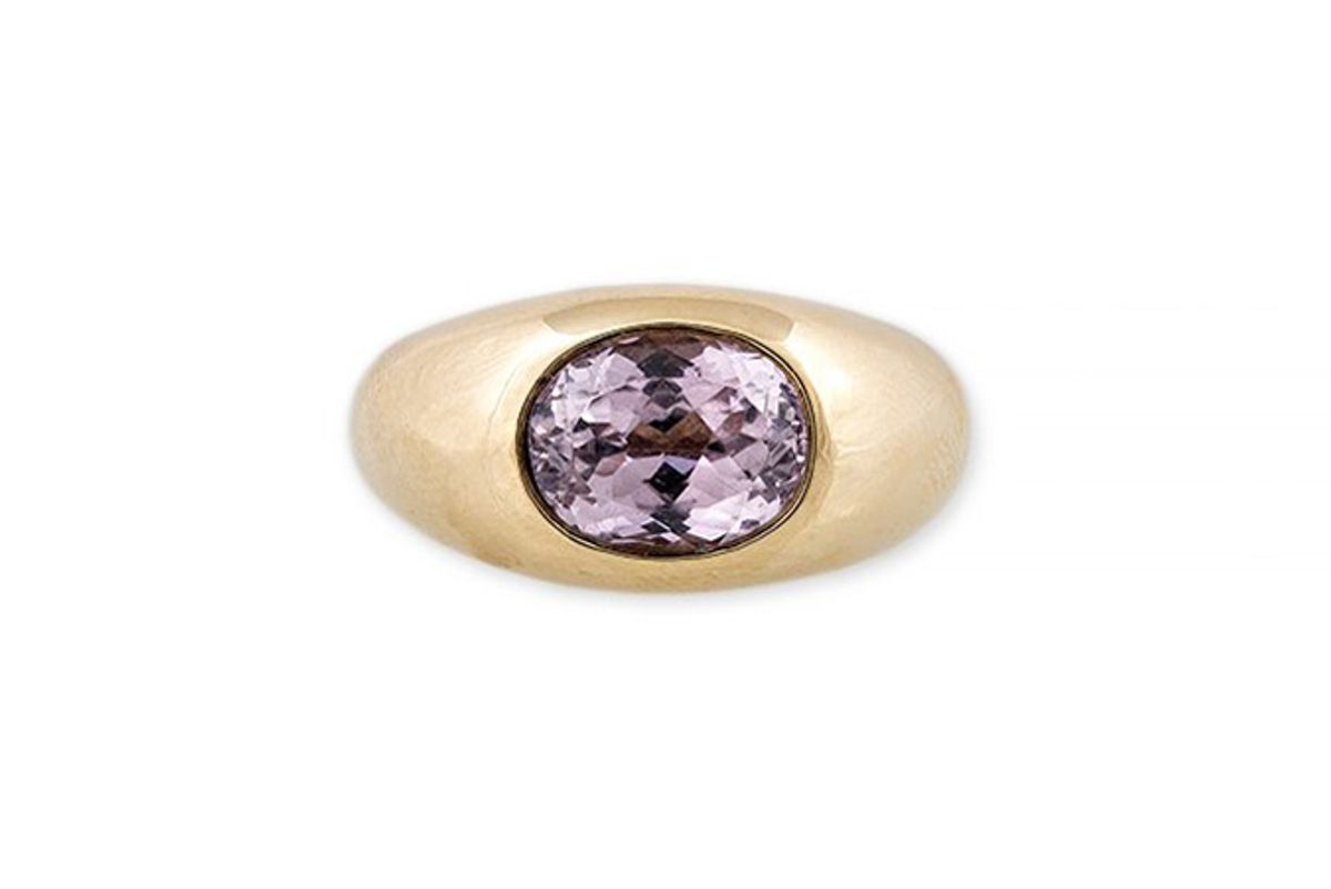jacquie aiche large kunzite dome ring