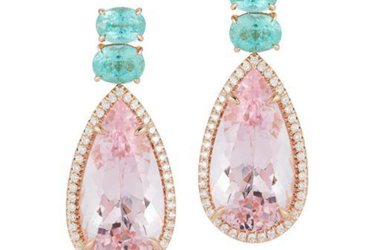 katherine jetter morganite and paraiba tourmaline pastel sunset earrings