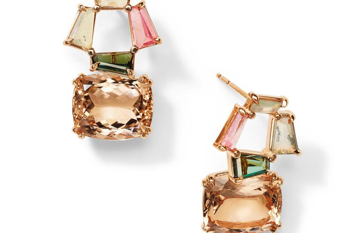 nak armstrong window earrings peach morganite