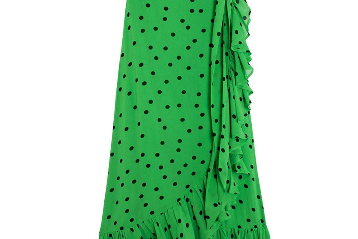 ganni clasic green danity skirt